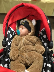 Cute baby in cuddly coat